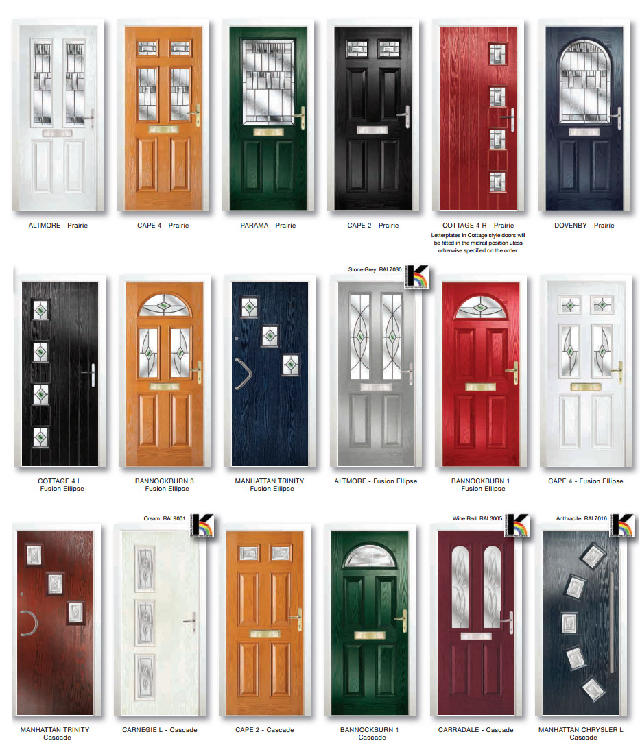 north est panels composite doors
